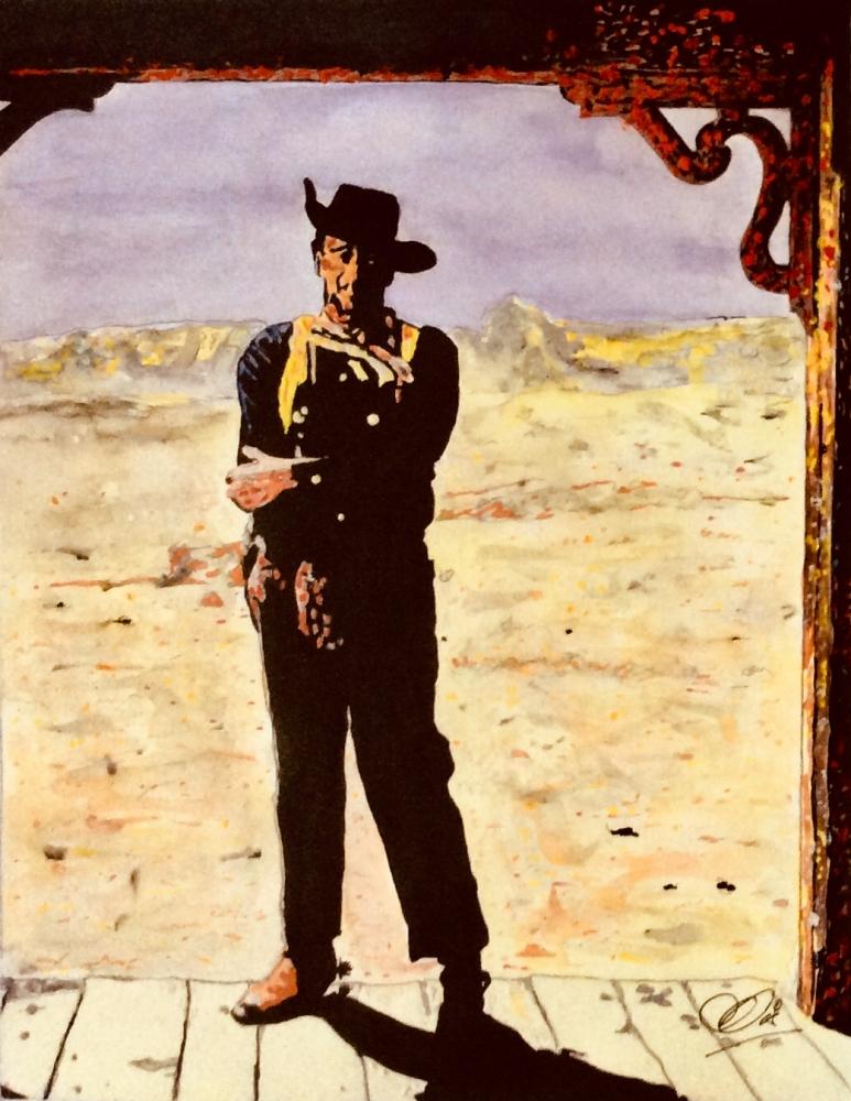John Wayne by Adzee